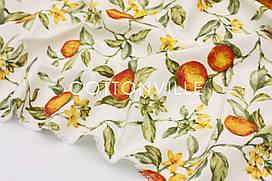Декоративная ткань/ панама Персики