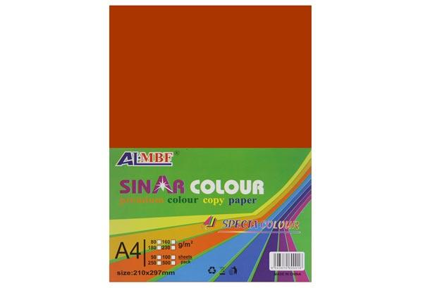 Картон для дизайна А4 180 гр, Page 8 ярко-оранжевый