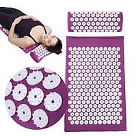 Акупунктурний масажний килимок ACUPRESSURE MAT BED or OF NAILS / ART-0253 (30шт)