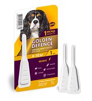 Капли антигельминтик для собак 4-10кг Golden Defence 1пипетка