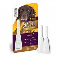 Капли антигельминтик для собак 20-30кг Golden Defence 1пипетка