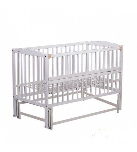 """Дитяче ліжечко Babyroom """"Веселка"""" DVMO-2 з маятником, колір білий"""