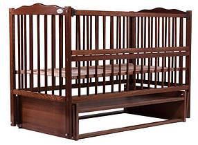 """Детская кроватка Babyroom """"Радуга"""" DVMO-2 с маятником, цвет орех"""