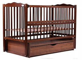 """Детская кроватка Babyroom """"Радуга"""" DVMYO-3, цвет орех"""