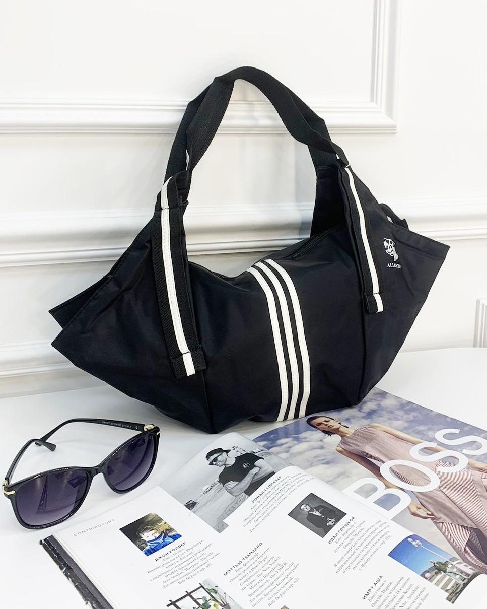 СПОРТИВНА сумка жіноча чорна з поліестеру