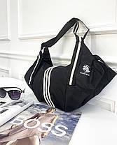 СПОРТИВНА сумка жіноча чорна з поліестеру, фото 3
