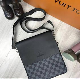 Чоловіча сумка через плече Louis Vuitton чорна