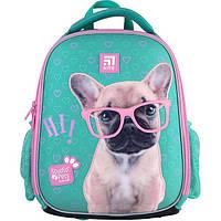 Рюкзак шкільний каркасний для дівчинки Kite Education Studio Pets 35*26*13,5 см, фото 1