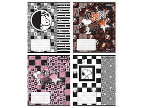 Зошит 48 аркушів клітинка Kite гібрид-лак і УФ Snoopy (8) (192) SN21-259