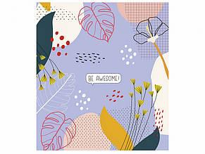 Зошит 60 аркушів клітинка Star Flower vibes вибірковий УФ-лак (10) (80) 060-2919 K