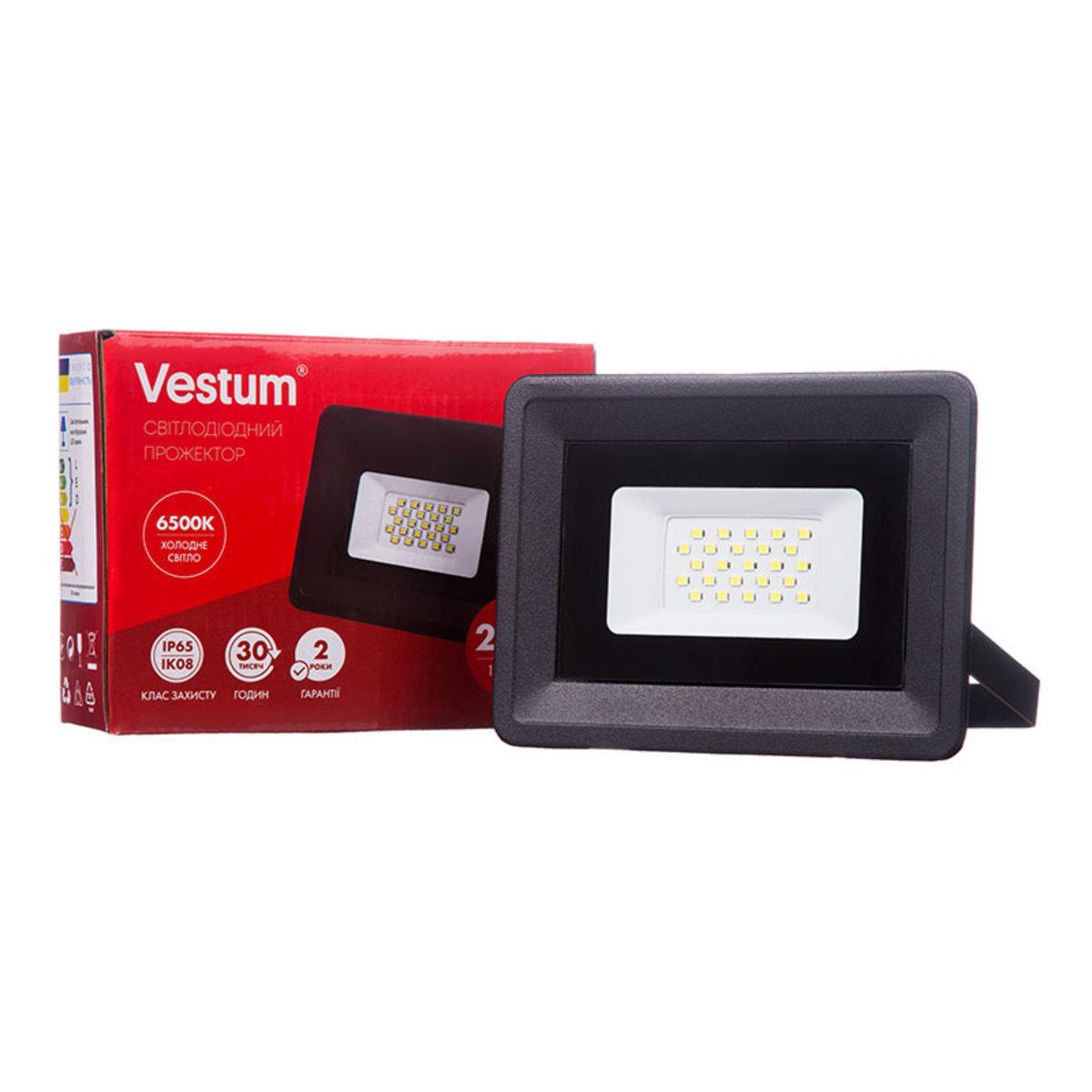 Светодиодный прожектор Vestum 20W 1800Лм 6500K 185-265V IP65 1-VS-3002