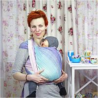 Літня туніка для вагітних з зав'язками ДІЛОВА МАМА (блакитний, розмір M), фото 1