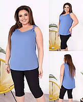 Жіноча блуза колір джинс SKL11-293822