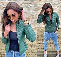 Куртка жіноча зелена SKL11-290579