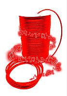 Шнур (1м). Для браслетов красный, атласный. Для красной нити, для браслетов, отлично заплавляется. Унисекс., фото 1