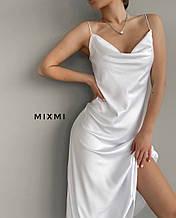 Жіноче плаття, шовк Армані, р-р 42-44; 44-46 (білий)