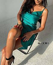 Жіноче плаття, шовк Армані, р-р 42-44; 44-46 (смарагдовий)