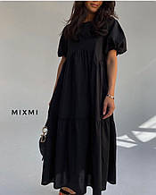 Жіноче плаття, коттон, р-р універсальний 42-46 (чорний)