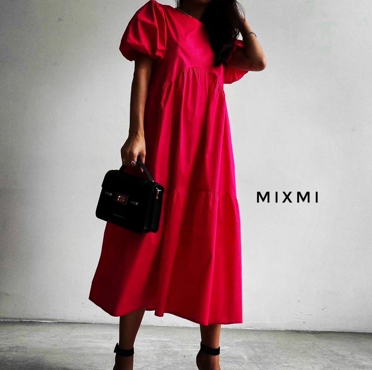 Женское платье, коттон, р-р универсальный 42-46 (красный)