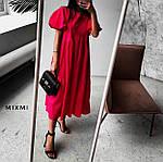 Женское платье, коттон, р-р универсальный 42-46 (красный), фото 2