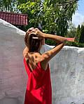 Женский сарафан, софт, р-р универсальный 42-46 (красный), фото 2