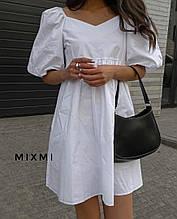 Жіноче плаття, коттон, р-р 42-44; 44-46 (білий)