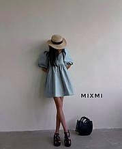 Жіноче плаття, коттон, р-р 42-44; 44-46 (блакитний)
