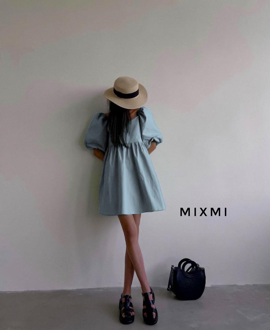 Женское платье, коттон, р-р 42-44; 44-46 (голубой)