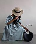 Женское платье, коттон, р-р 42-44; 44-46 (голубой), фото 2