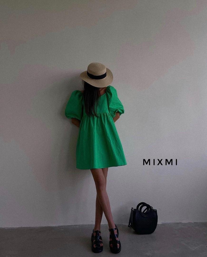 Женское платье, коттон, р-р 42-44; 44-46 (зеленый)
