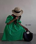 Женское платье, коттон, р-р 42-44; 44-46 (зеленый), фото 2