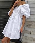 Женское платье, коттон, р-р 42-44; 44-46 (белый), фото 2