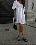 Женское платье, коттон, р-р 42-44; 44-46 (белый), фото 3