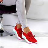 Яркие красные тканевые текстильные женские кроссовки на подошве мультиколор 36-23 37-23,5 39-24,5 41, фото 6