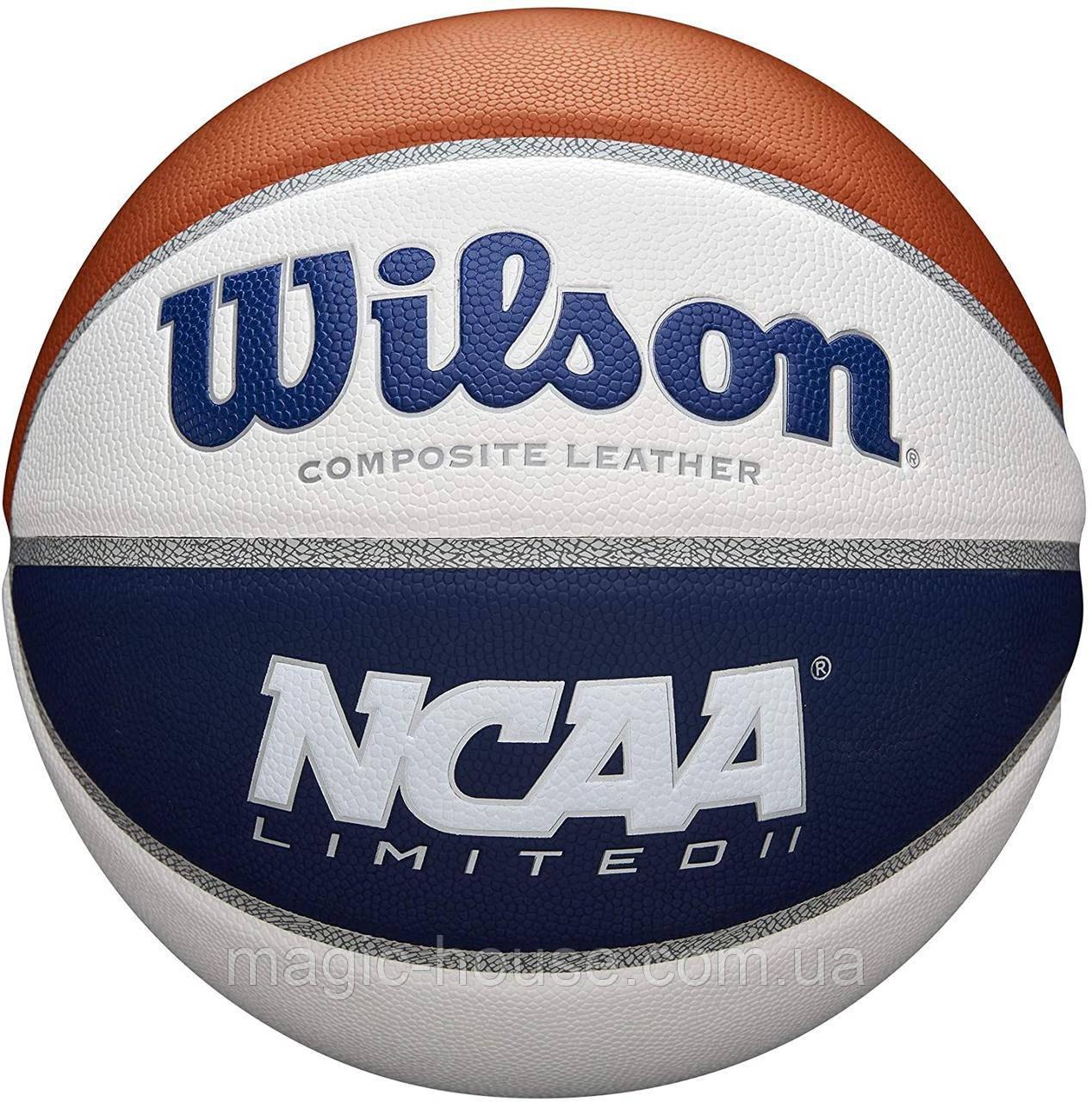 Мяч баскетбольный Wilson NCAA Limited Basketball, Official - 29.5 оригинал размер 7 композитная кожа