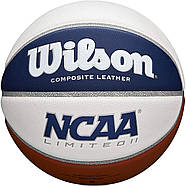 М'яч баскетбольний Wilson NCAA Limited Basketball, Official - 29.5 оригінал розмір 7 композитна шкіра, фото 3