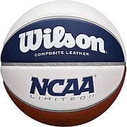 Мяч баскетбольный Wilson NCAA Limited Basketball, Official - 29.5 оригинал размер 7 композитная кожа, фото 3