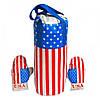 Дитячий спортивний Набір: Боксерська груша та рукавички USA для дітей від 6 років, розмір L (великий), 23х23х50см