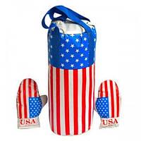 Детский спортивный Набор: Боксерская груша и перчатки USA для детей от 6 лет, размер L (большой), 23х23х50см