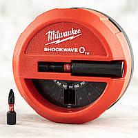 Набор ударных бит с удлинителем Milwaukee Shockwave Impact