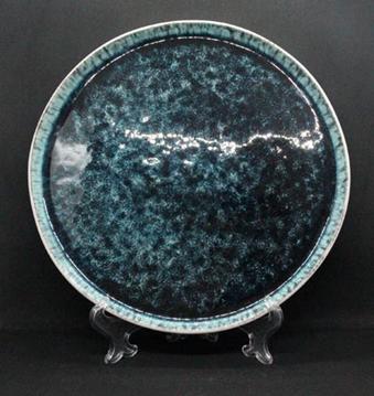 Тарелка DS Totem обеденная 27 см Бирюзовая Керамическая