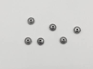 Металеві декори. Колір античне срібло. 7,8 мм