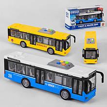 Автобус WY 910 AB (24) 2 вида, инерция, свет, звук, в коробке