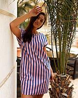 Платье женское летнее в полоску 1490 (48-50; 52-54; 56-58; 60-62) СП, фото 1