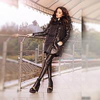 Куртка женская с натуральным мехом P136