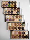 Палетка теней для век MERCI Diamond матовые и перламутровые 10 цветов M-510 №01 Розовые/синие/коричн, фото 9