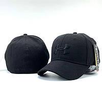 Бейсболка унисекс черного цвета. Классическая женская / мужская кепка черная., фото 1
