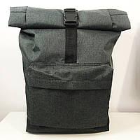 Рюкзак Ролл Топ. Дорожная сумка, сумка для похода. Модель №9237. Цвет: серый