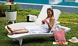 Шезлонг пластиковый пляжный Keter Pacific Lounger White ( белый ) ( Pacific ), фото 4