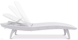 Шезлонг пластиковый пляжный Keter Pacific Lounger White ( белый ) ( Pacific ), фото 9